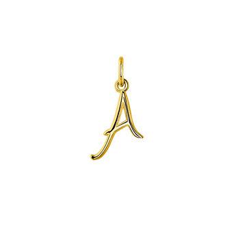 Gold letter A necklace, J03932-02-A, hi-res