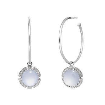 Silver stone hoop earrings, J03495-01-BCWT, hi-res