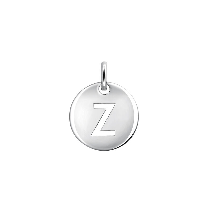 Silver Z letter necklace, J03455-01-Z, hi-res