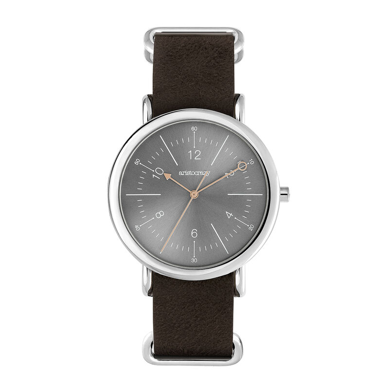 Camps Bay watch brown strap with grey face, 0, hi-res