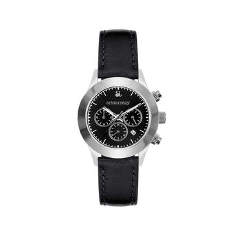 Soho watch steel black face., W29A-STSTBL-LEBL, hi-res