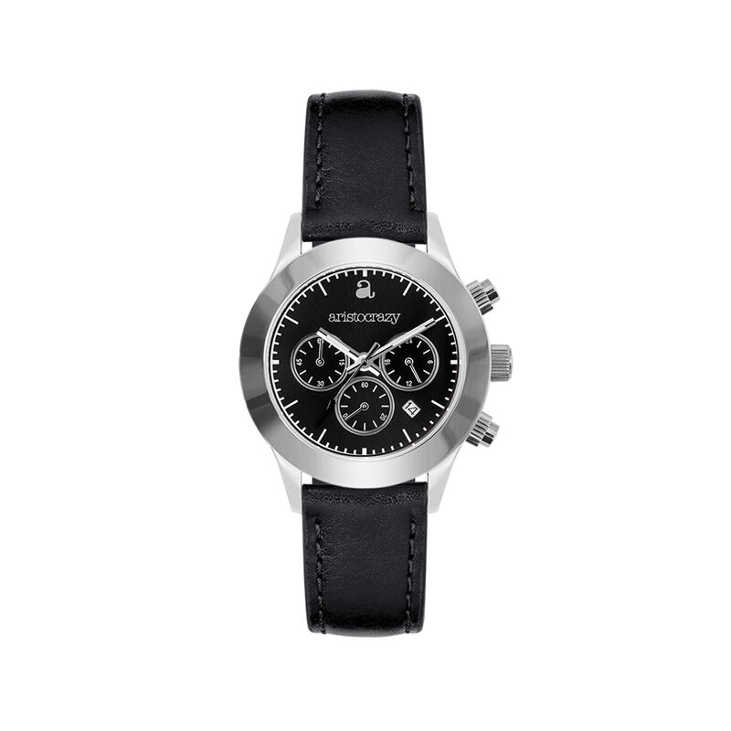 Reloj Soho acero esfera negra, W29A-STSTBL-LEBL, hi-res