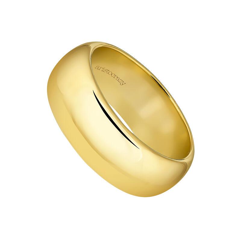 Anillo banda grande oroplata recubierta oro, J04102-02, hi-res