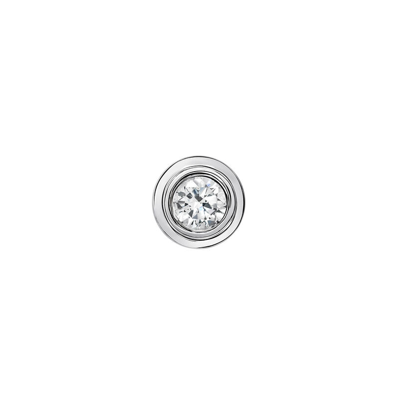 Pendiente doble chatón oro blanco 0,15 ct, J03404-01-15-H, hi-res