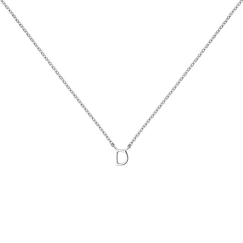 Collar inicial D oro blanco, J04382-01-D, hi-res