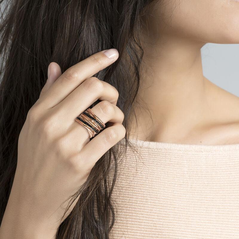 Large rose gold multi-band ring, J03662-03-WT-BSN, hi-res