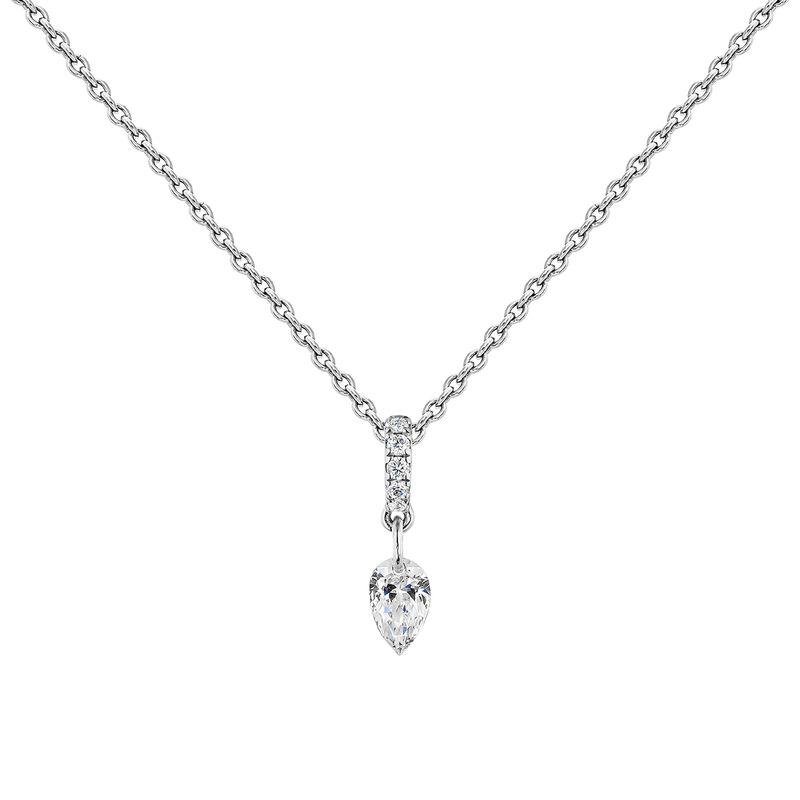 Collier diamants or blanc, J04432-01, hi-res