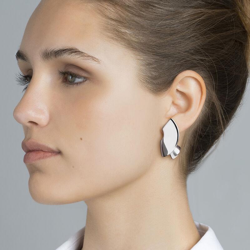Silver sculptural earrings, J03505-01, hi-res
