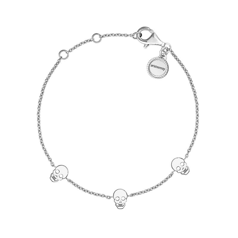 Silver bracelet with skulls, J03942-01, hi-res