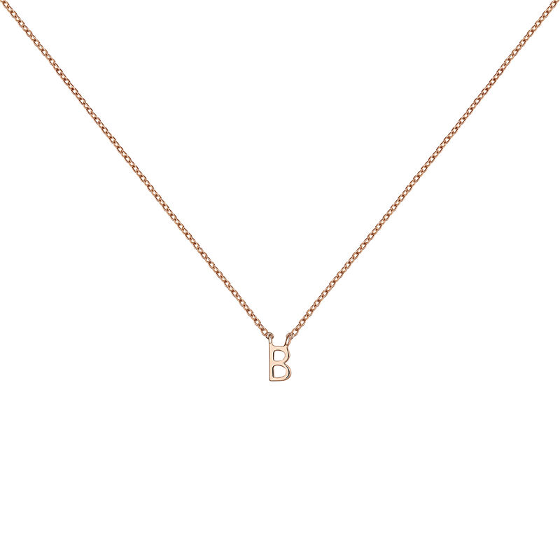 Rose gold Initial B necklace, J04382-03-B, hi-res