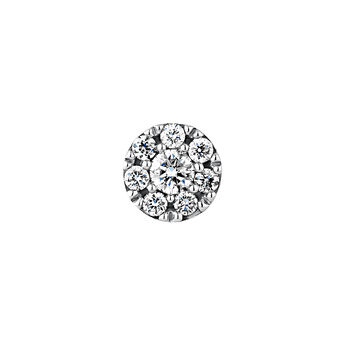 Pendiente roseta diamantes 0,10 ct oro blanco, J04207-01-10-H, hi-res