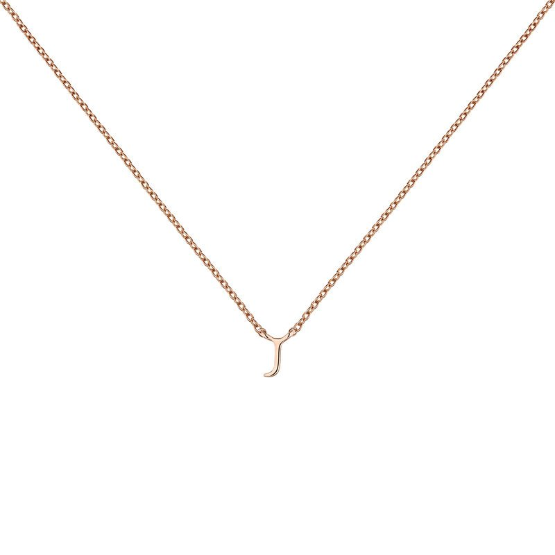 Collier initiale J or rose, J04382-03-J, hi-res