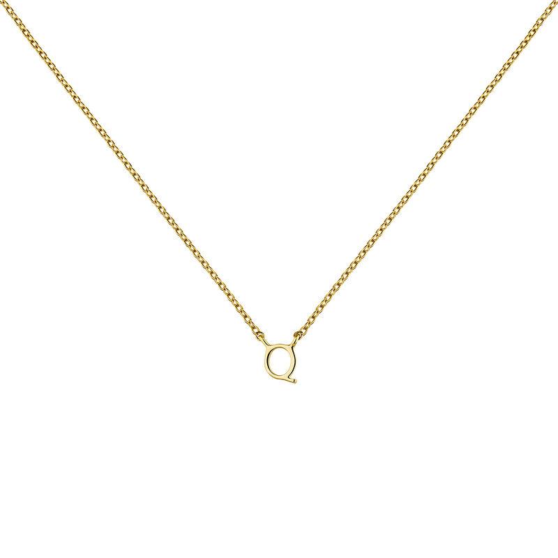 Collar inicial Q oro9 kt, J04382-02-Q, hi-res