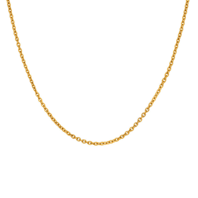Gold plated simple chain, J03434-02, hi-res