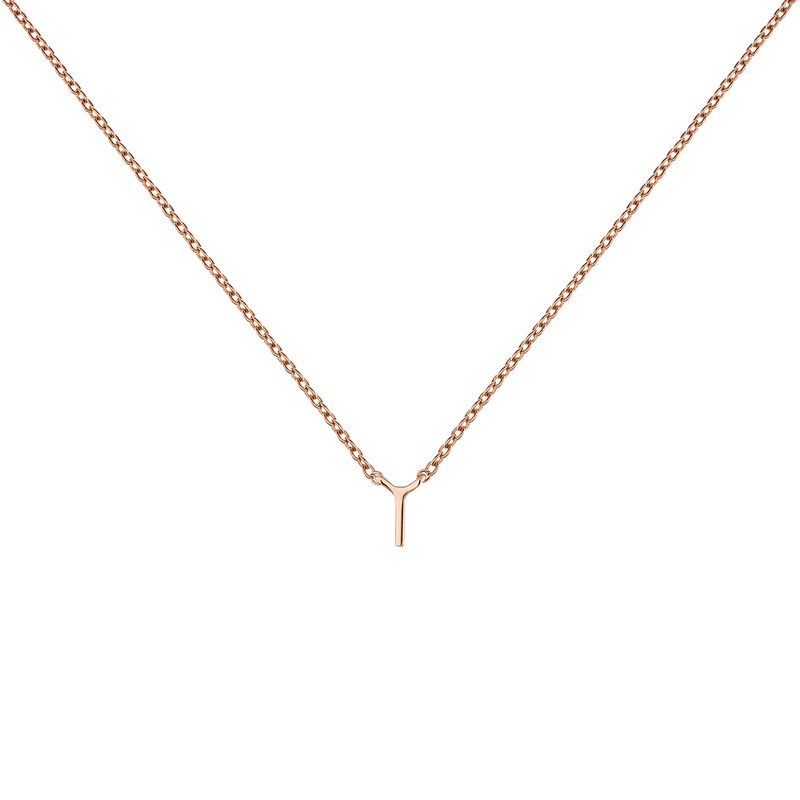 Rose gold Initial I necklace, J04382-03-I, hi-res