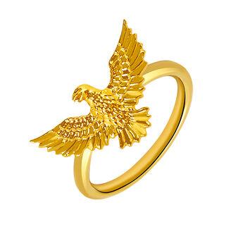 Anillo águila oro , J03050-02, hi-res