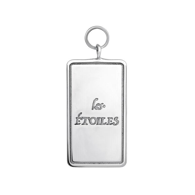 Colgante carta Les Étoiles plata, J04042-01, hi-res