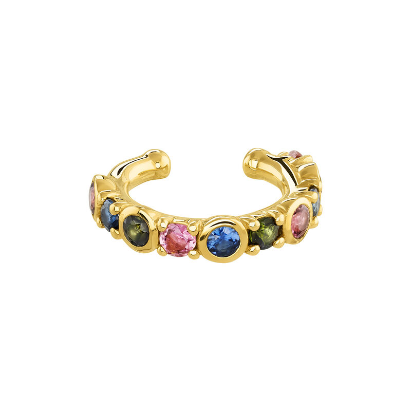 Pendiente piercing turmalina oro, J04141-02-PTGTBS, hi-res
