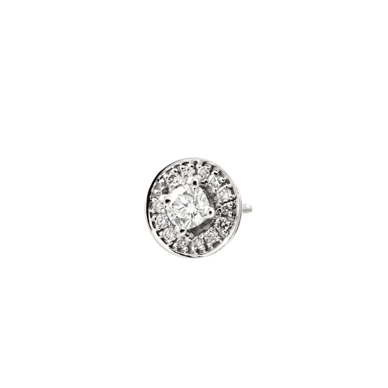 Boucle d'oreille bordure diamants or blanc 0,2 ct, J00175-01-10-H, hi-res