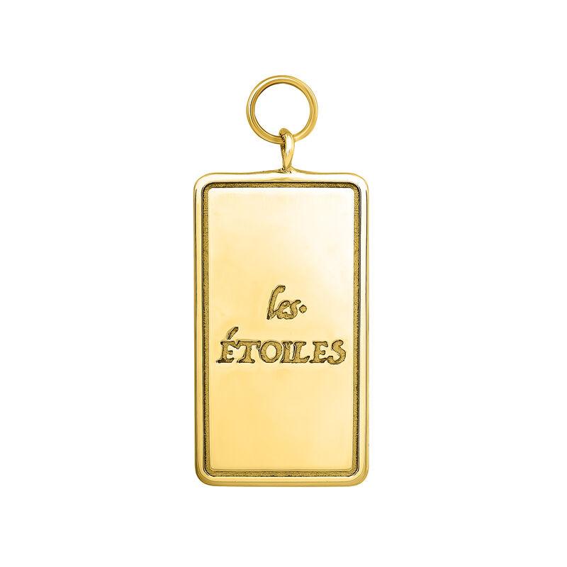 Colgante carta Les Étoiles plata recubierta oro, J04042-02, hi-res