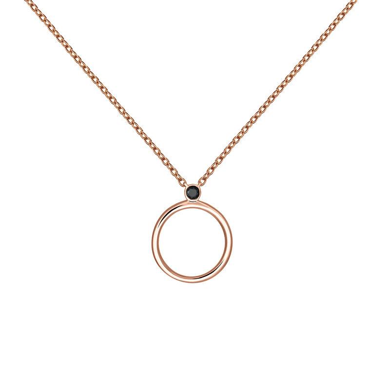 Colgante círculo espinela oro rosa, J03692-03-BSN, hi-res