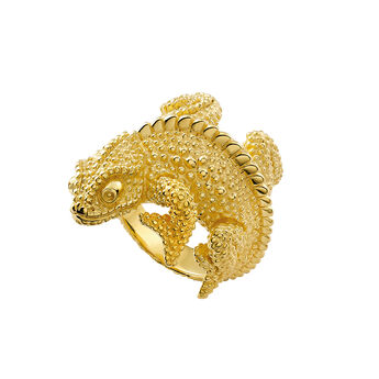 Gold chameleon ring, J03178-02, hi-res