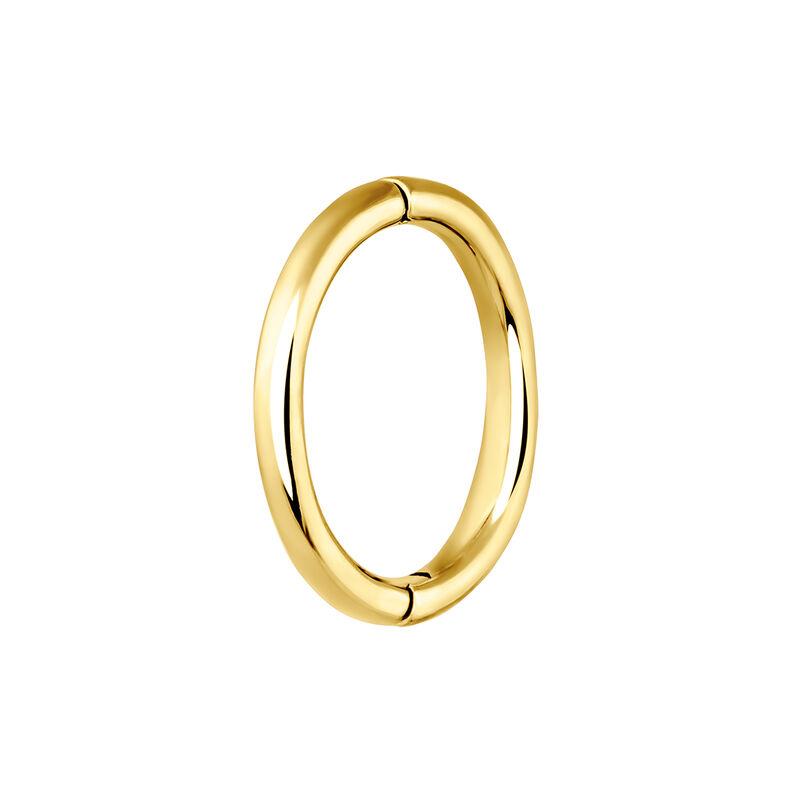 Pendiente piercing aro grande oro, J03844-02-H, hi-res