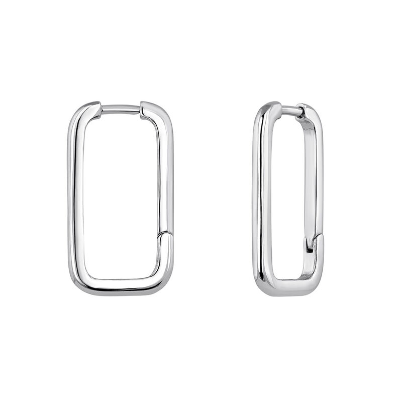 Pendientes rectangulares plata, J04644-01, hi-res