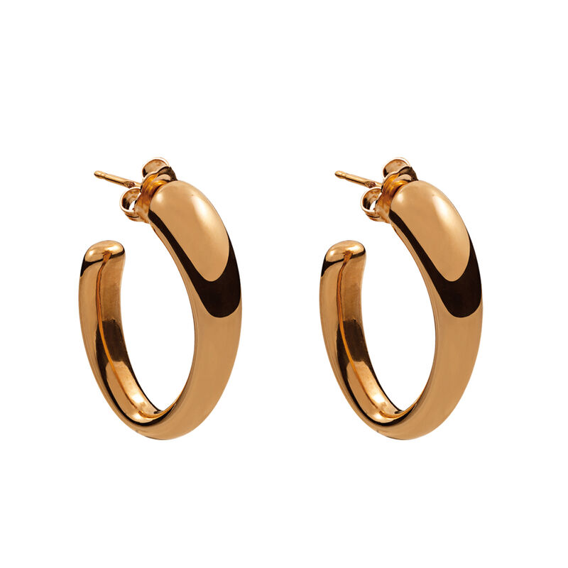 Rose gold medium oval earrings, J00800-03, hi-res