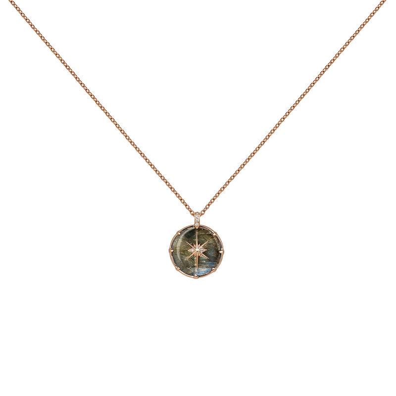 Rose-Gold Long Bohemian Necklace, J03905-03-LA-WT, hi-res