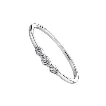 a27eee499b49 Anillo diamante gotas oro blanco 0