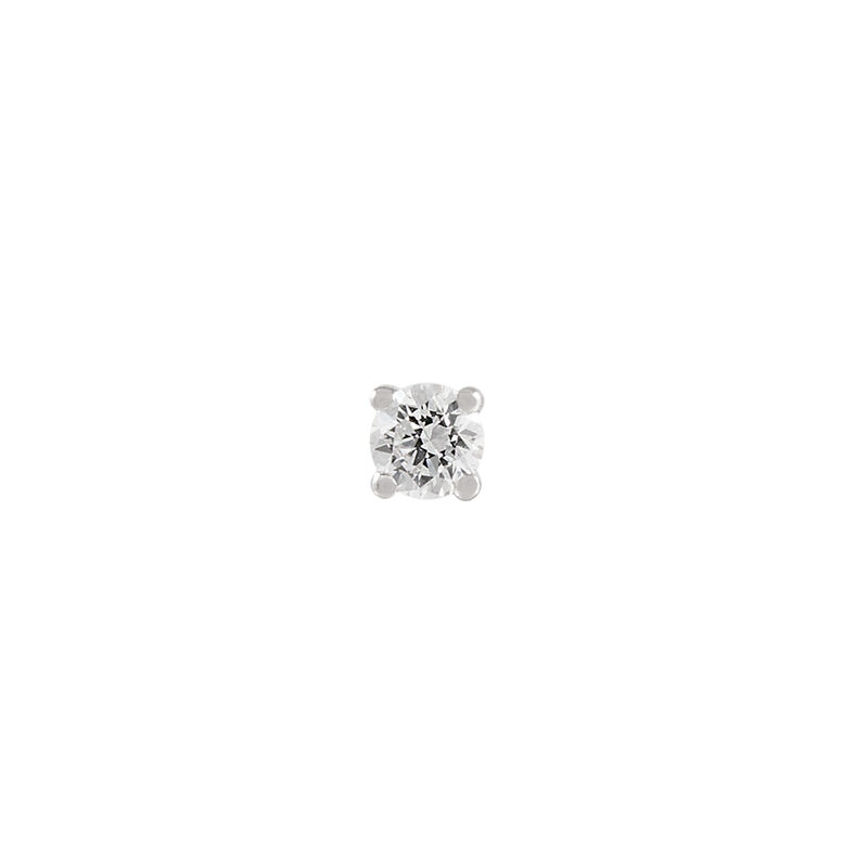 Pendiente solitario diamante 0,05 oro blanco, J00887-01-05-H, hi-res