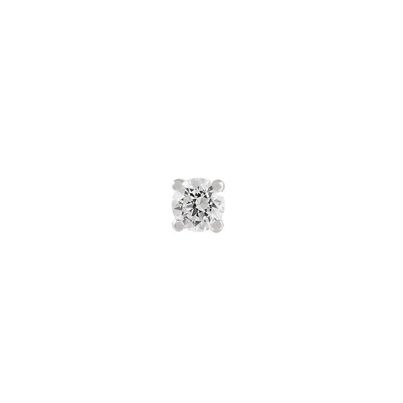 Pendiente solitario diamante 0,07 ct oro blanco, J00887-01-07-H, hi-res
