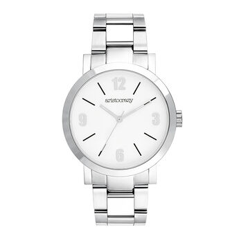 La Condesa watch white face, W54A-STSTWP-AXST, hi-res