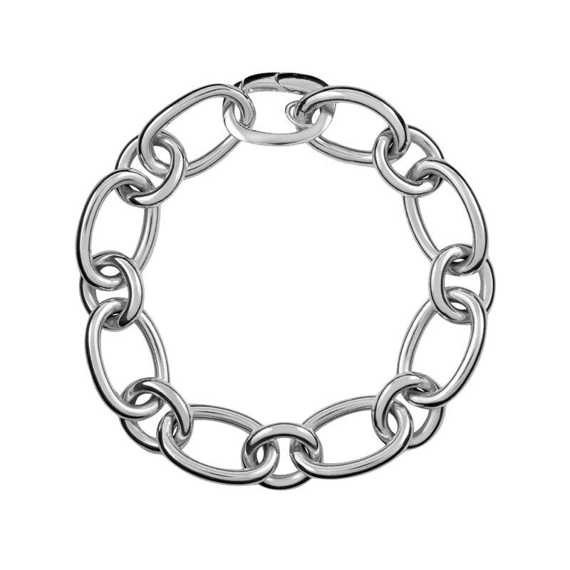 Pulsera ancha eslabón plata, J00920-01, hi-res
