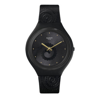 Swatch x Aristocrazy black watch + chameleon bracelet, CHAMESKIN, hi-res