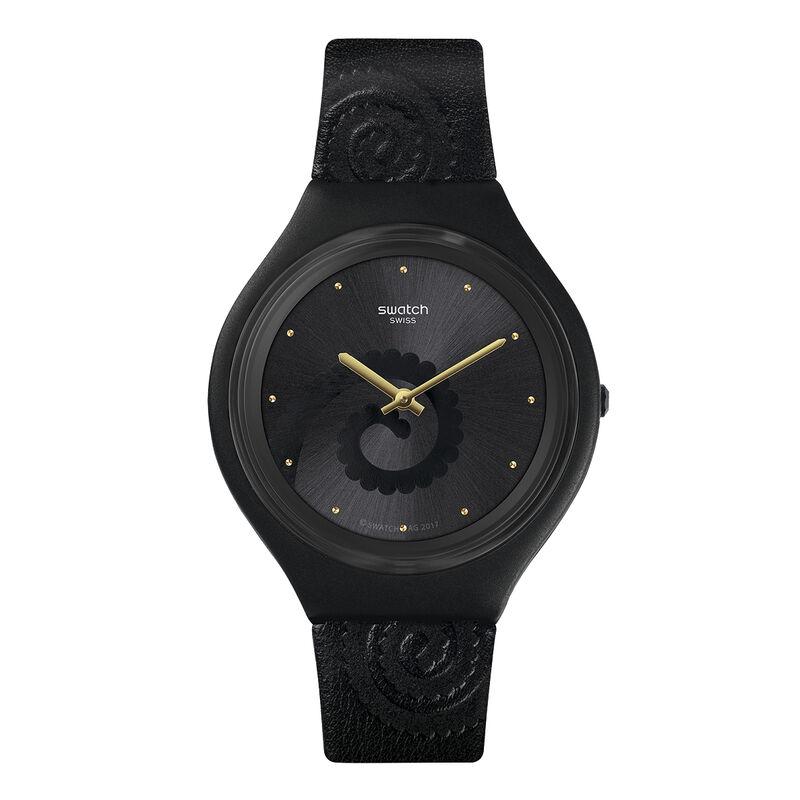 Reloj Swatch x Aristocrazy negro + pulsera camaleón, 0, hi-res