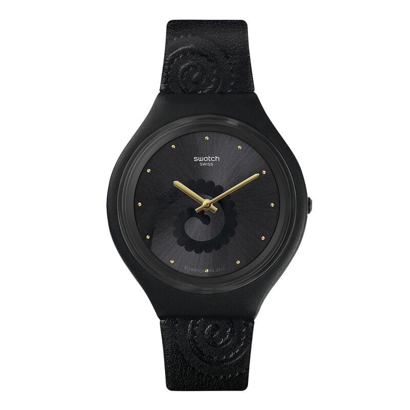 Reloj Swatch x Aristocrazy negro + pulsera camaleón, CHAMESKIN, hi-res