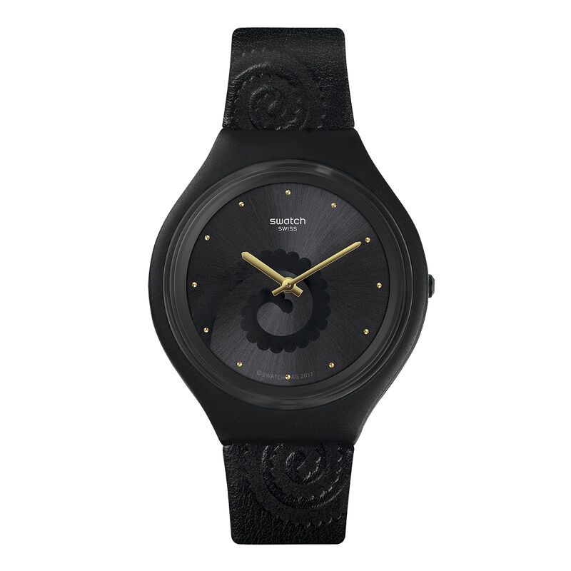 Swatch x Aristocrazy black watch + chameleon bracelet, CHAMESKIN, hi-res