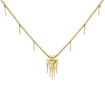 Collier motifs fantaisie argent plaqué or, J04554-02, hi-res