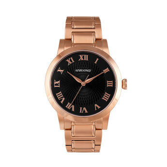 Brera watch rose gold bracelet black face., W44A-PKPKBL-AXPK, hi-res