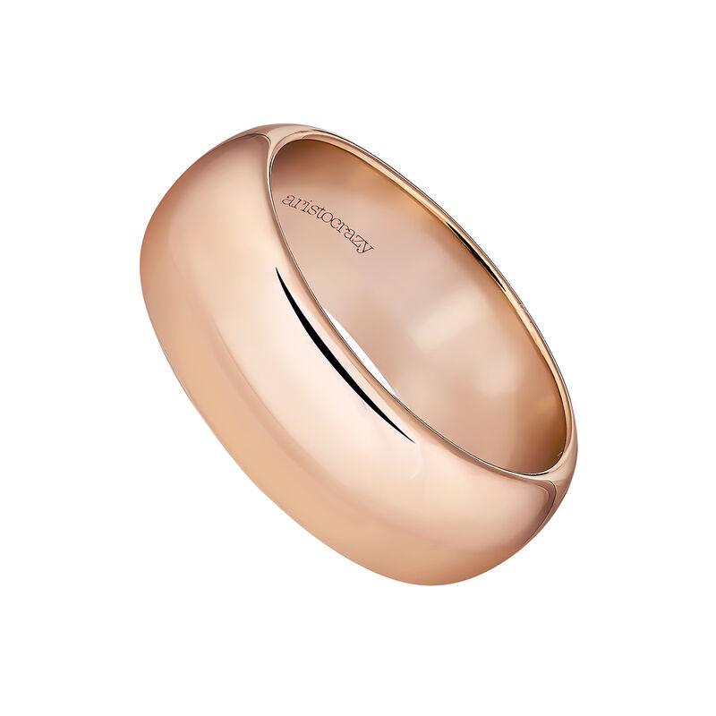 Anillo banda grande plata recubierta oro rosa, J04102-03, hi-res