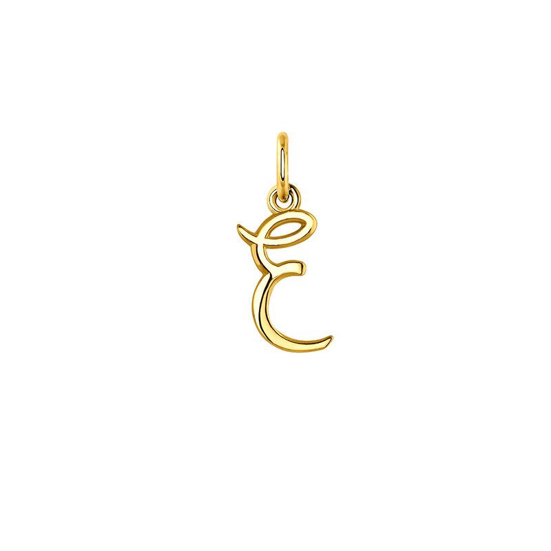 Colgante inicial E oro, J03932-02-E, hi-res