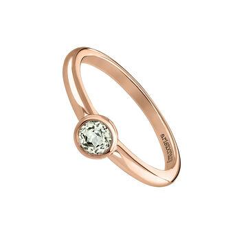 Bague pierre ronde petite or rose, J03815-03-GQ, hi-res
