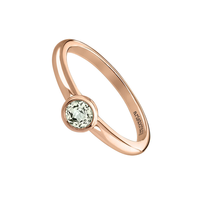 Anillo piedra redonda pequeña oro rosa, J03815-03-GQ, hi-res