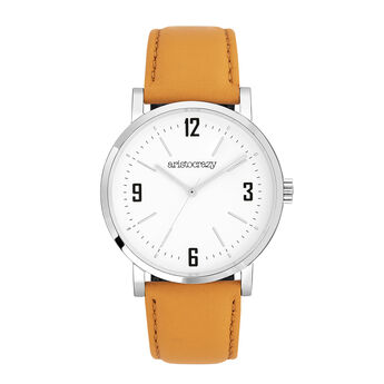 Brooklyn watch mustard strap, W45A-STSTWH-LEMU, hi-res