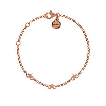 Mini rose gold plated stars bracelet, J01898-03, hi-res