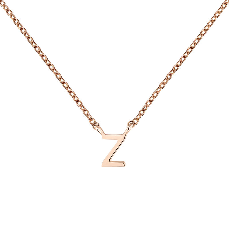 Collier initiale Z or rose, J04382-03-Z, hi-res