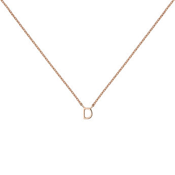 Rose gold Initial D necklace, J04382-03-D, hi-res