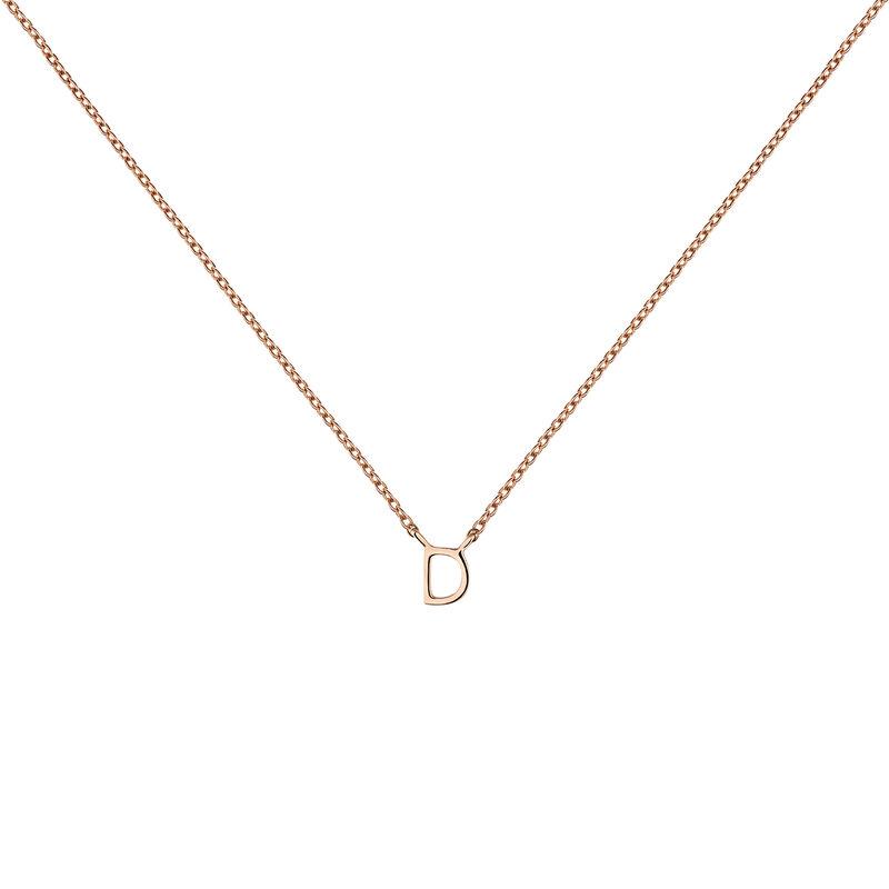 Collier initiale D or rose, J04382-03-D, hi-res